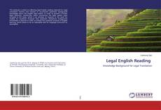 Portada del libro de Legal English Reading