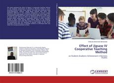 Couverture de Effect of Jigsaw IV Cooperative Teaching Method