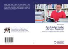 Bookcover of South Asian English Literature Research I