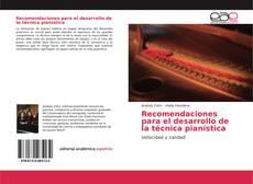 Portada del libro de Recomendaciones para el desarrollo de la técnica pianística