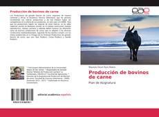 Bookcover of Producción de bovinos de carne