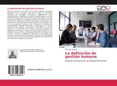 Buchcover von La definición de gestión humana
