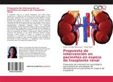 Portada del libro de Propuesta de intervención en pacientes en espera de trasplante renal