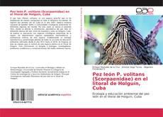Portada del libro de Pez león P. volitans (Scorpaenidae) en el litoral de Holguín, Cuba