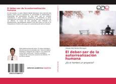 Bookcover of El deber-ser de la autorrealización humana