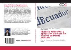 Portada del libro de Impacto Ambiental y aplicacion de leyes en viveros de Palma Aceitera