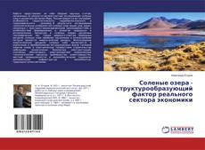 Bookcover of Соленые озера - структурообразующий фактор реального сектора экономики