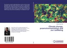 Buchcover von Climate change, proenvironmentalism and our wellbeing