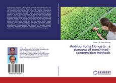 Bookcover of Andrographis Elongata : a panacea of nanchinad - conservation methods