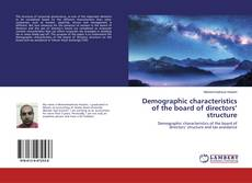 Bookcover of Demographic characteristics of the board of directors' structure