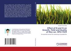 Bookcover of Effect of N and Si on Growth, Yield and Quality of Rice var. MTU-7029