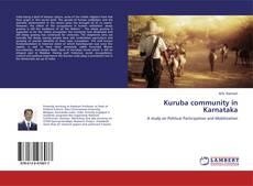 Bookcover of Kuruba community in Karnataka