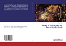 Bookcover of Survey of Contemporary Education in China