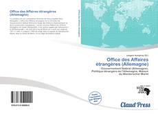 Buchcover von Office des Affaires étrangères (Allemagne)