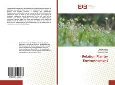 Couverture de Relation Plante-Environnement