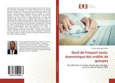 Capa do livro de Quid de l'impact socio-économique des crédits de groupes