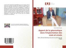Capa do livro de Apport de la géomatique dans l'implantation des ciats et s/ciats