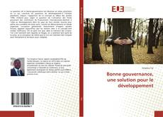 Portada del libro de Bonne gouvernance, une solution pour le développement