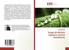 Bookcover of Usage de déchets végétaux comme biosorbants