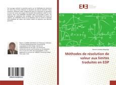 Couverture de Méthodes de résolution de valeur aux limites traduites en EDP
