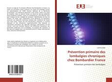 Capa do livro de Prévention primaire des lombalgies chroniques chez Bombardier France