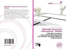 1998 ANZ Tasmanian International – Singles kitap kapağı
