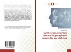 Couverture de Synthèse ionothermale des métallophosphates apparentés aux zéolithes