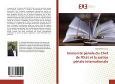 Bookcover of L'immunité de juridiction pénale du Chef d'Etat