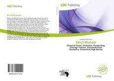 Buchcover von Erich Kunzel
