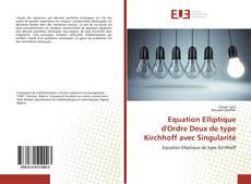 Capa do livro de Equation Elliptique d'Ordre Deux de type Kirchhoff avec Singularité