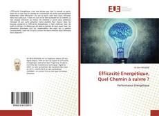 Capa do livro de Efficacité Energétique, Quel Chemin à suivre ?