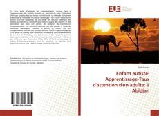Couverture de Enfant autiste-Apprentissage-Taux d'attention d'un adulte: à Abidjan
