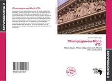 Capa do livro de Champagne-au-Mont-d'Or