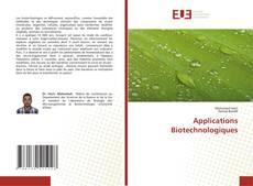 Portada del libro de Applications Biotechnologiques