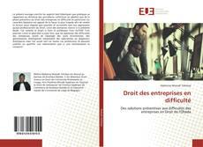 Portada del libro de Droit des entreprises en difficulté