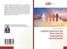 Buchcover von L'égalité souveraine des États dans les organisations internationales