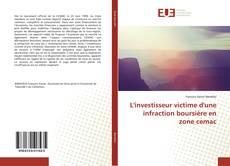 Bookcover of L'investisseur victime d'une infraction boursière en zone cemac