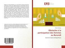 Bookcover of Obstacles à la participation des femmes au Burundi