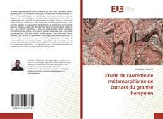 Portada del libro de Etude de l'auréole de métamorphisme de contact du granite hercynien