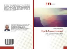 Обложка Esprit de cancérologue