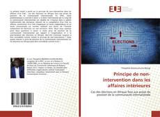 Copertina di Principe de non-intervention dans les affaires intérieures