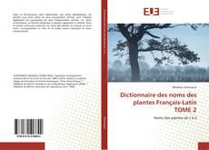 Capa do livro de Dictionnaire des noms des plantes Français-Latin TOME 2