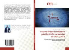 Buchcover von Leçons tirées de l'élection présidentielle congolaise du 30/12/2018