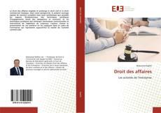 Portada del libro de Droit des affaires