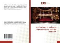 Capa do livro de Implications et violences représentées au sein des relations