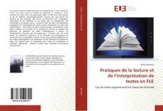 Couverture de Pratiques de la lecture et de l'interpretation de textes en FLE