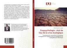Bookcover of Ecopsychologie : état de lieu de la crise écologique