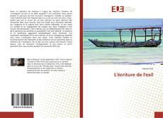 Borítókép a  L'écriture de l'exil - hoz