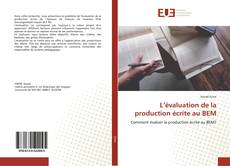 Buchcover von L'évaluation de la production écrite au BEM