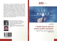 Bookcover of L'Audit Interne dans le secteur public marocain